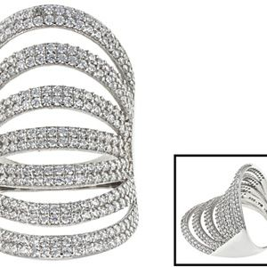 Jewelry - Cubic Zirconia Silver Ring 4.30ctw